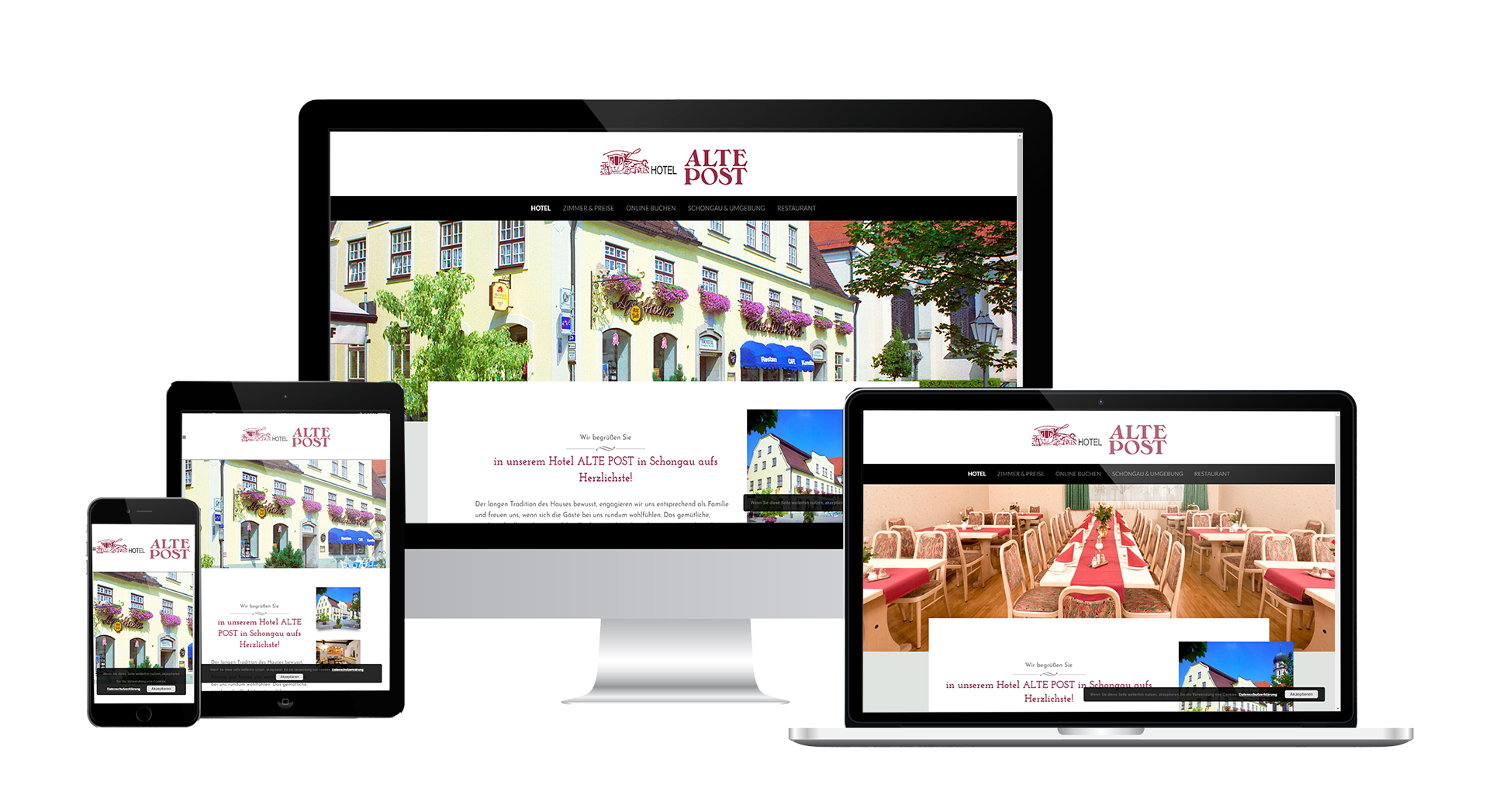 Webdesign Hotel Alte Post Schongau