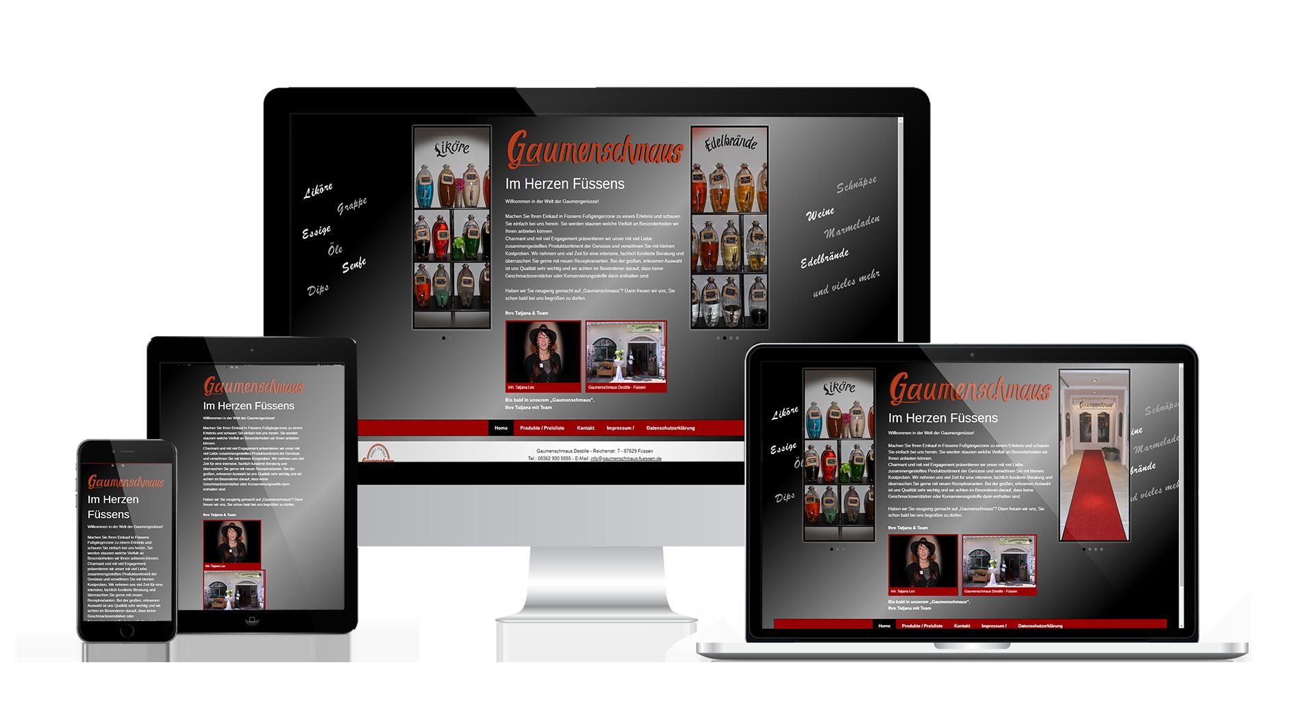 Webentwicklung Destille Gaumenschmaus