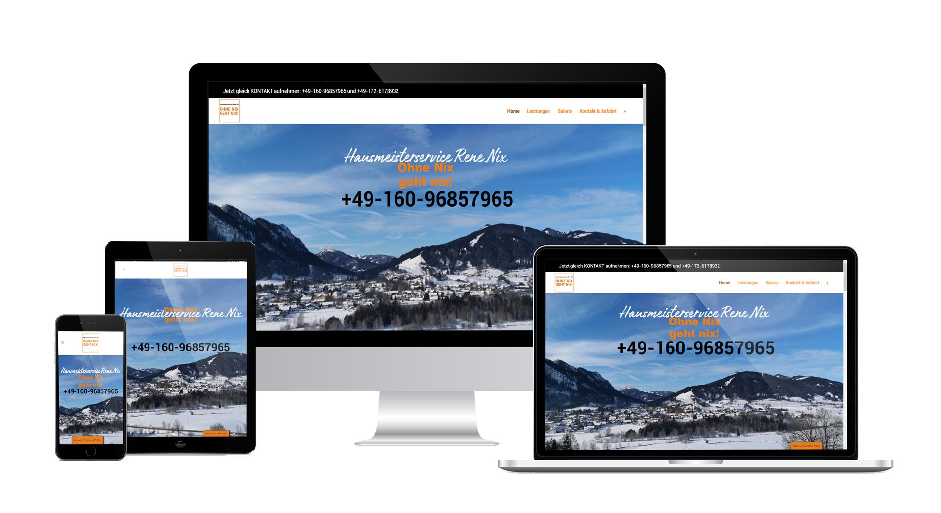 Wordpress Webdesign Hausmeisterservice Nix